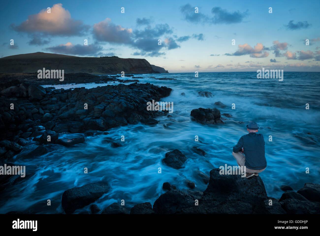 South America,Chile,Easter Island,Isla de Pasqua,south pacific,UNESCO,World Heritage,(m) - Stock Image