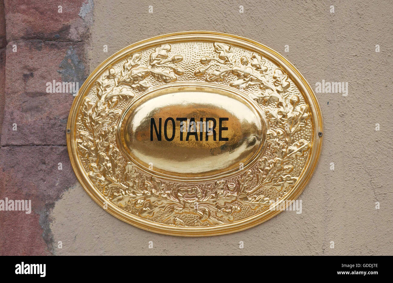 Delightful Notary Sign In Paris   Stock Image