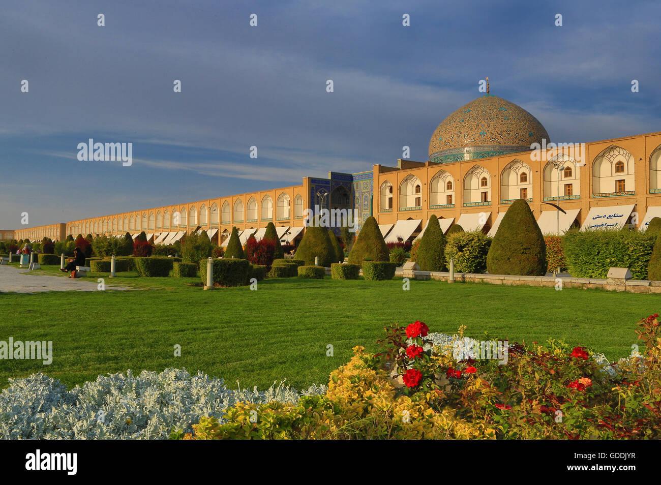 Iran,Esfahan City,Naqsh-e Jahan Square,Sheikh Lotfollah Mosque, - Stock Image
