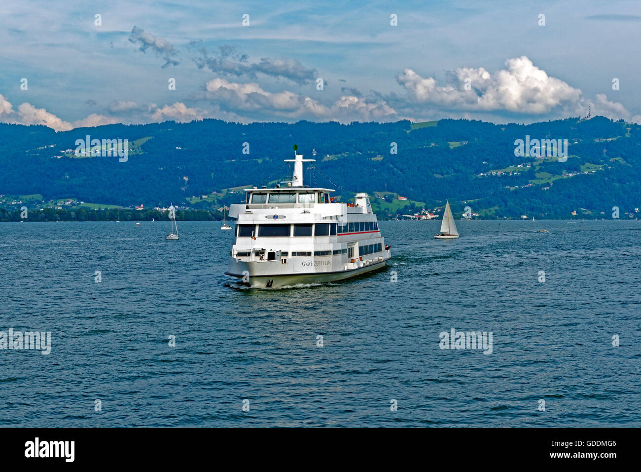 Lake Constance,Bodensee,ferry Stock Photo