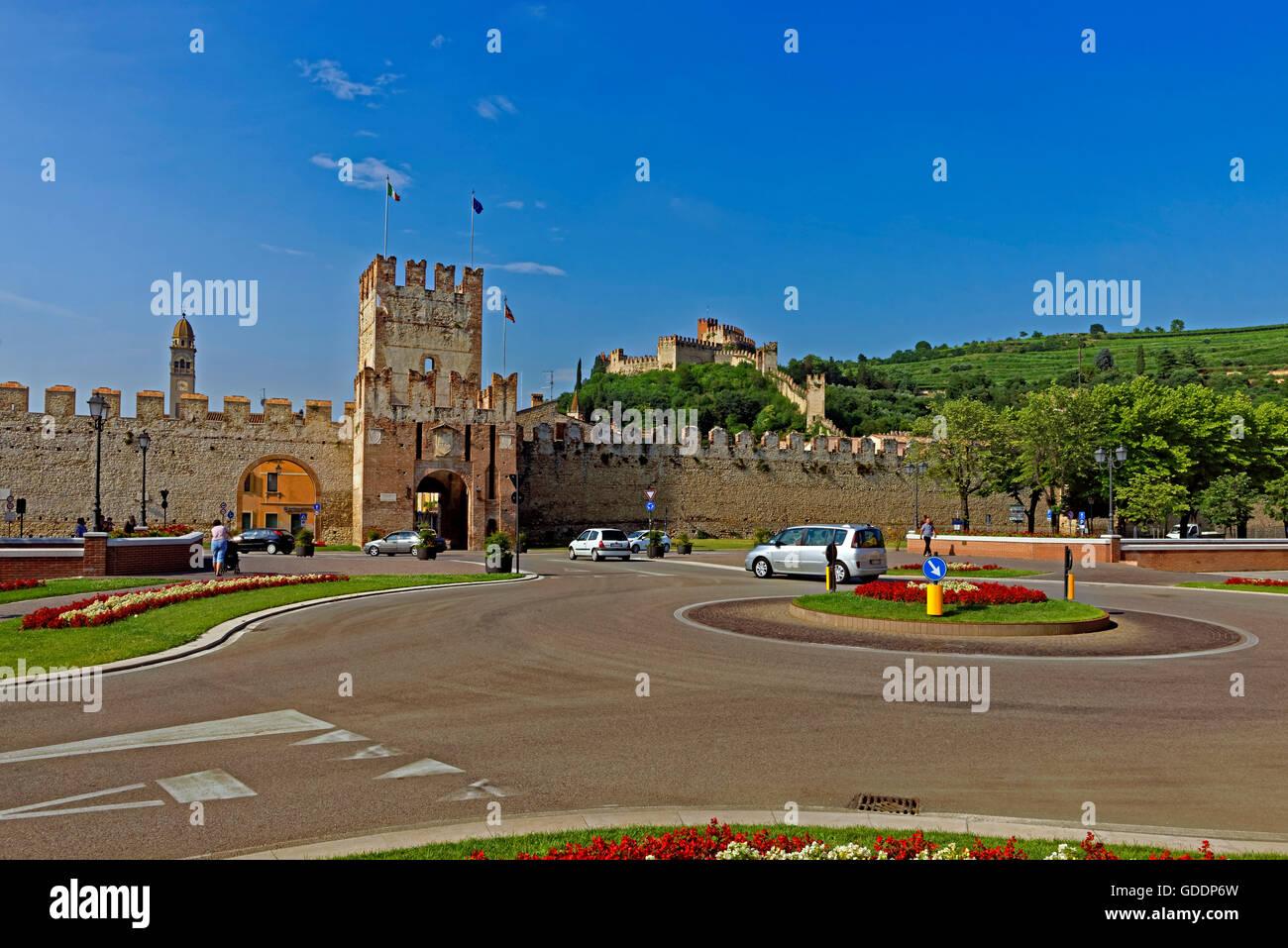 Porta Verona,town wall,Scalierburg,Castello Medievale Stock Photo