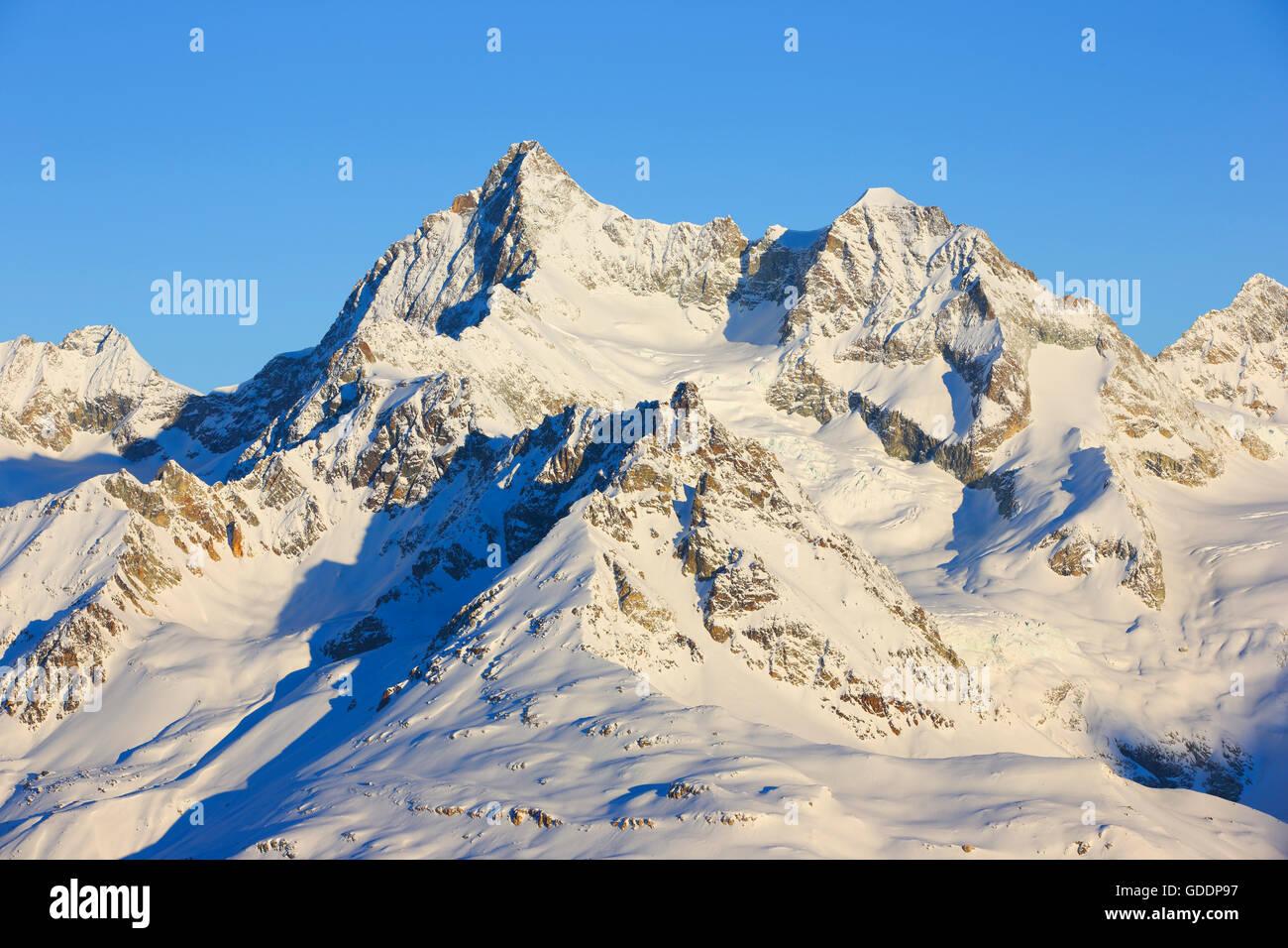 Ober Gabelhorn - 4063 ms,Valais,Switzerland Stock Photo