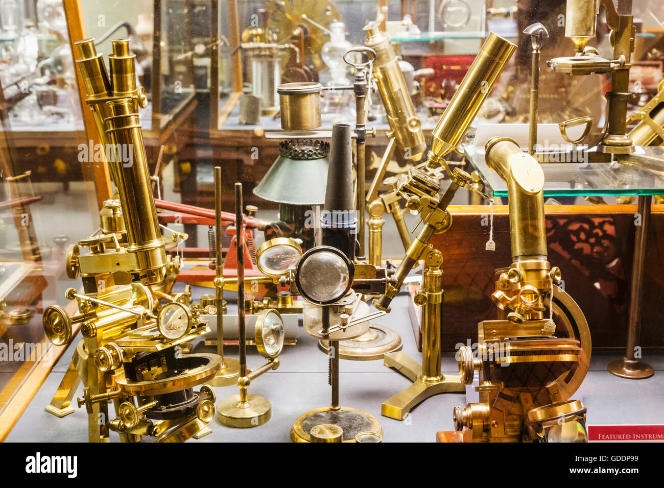 England,Oxfordshire,Oxford,Museum of the History of Science,Display of Historical Scientific Instruments - Stock Image