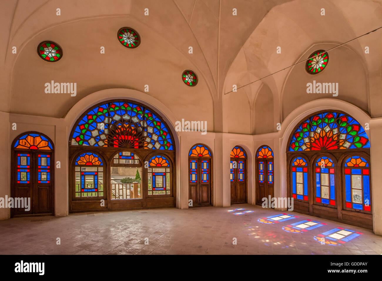 Iran,Kashan City,Near Alavi Street,Traditional Tabatabei House - Stock Image