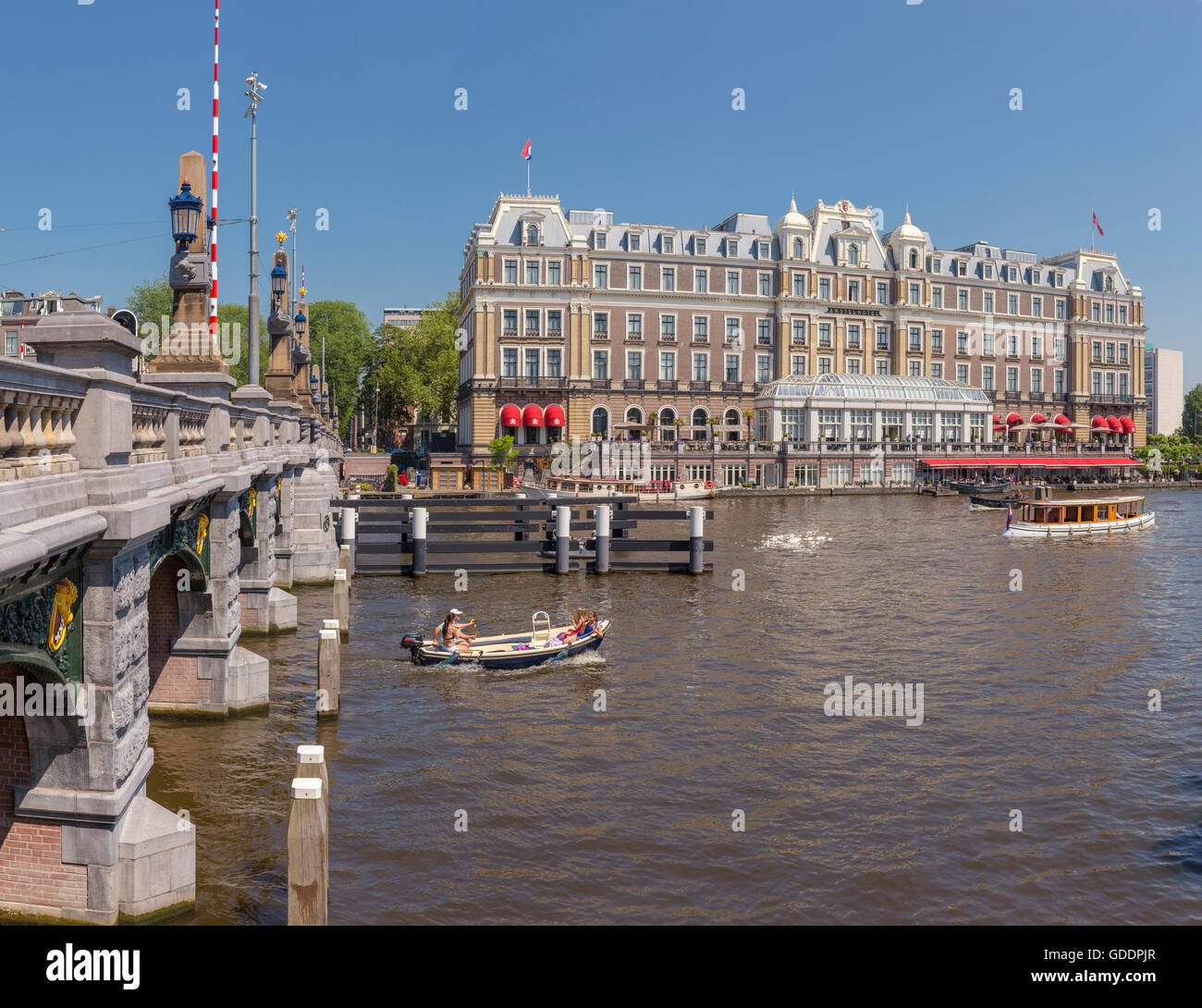 InterContinental Amstel hotel at the river Amstel - Stock Image