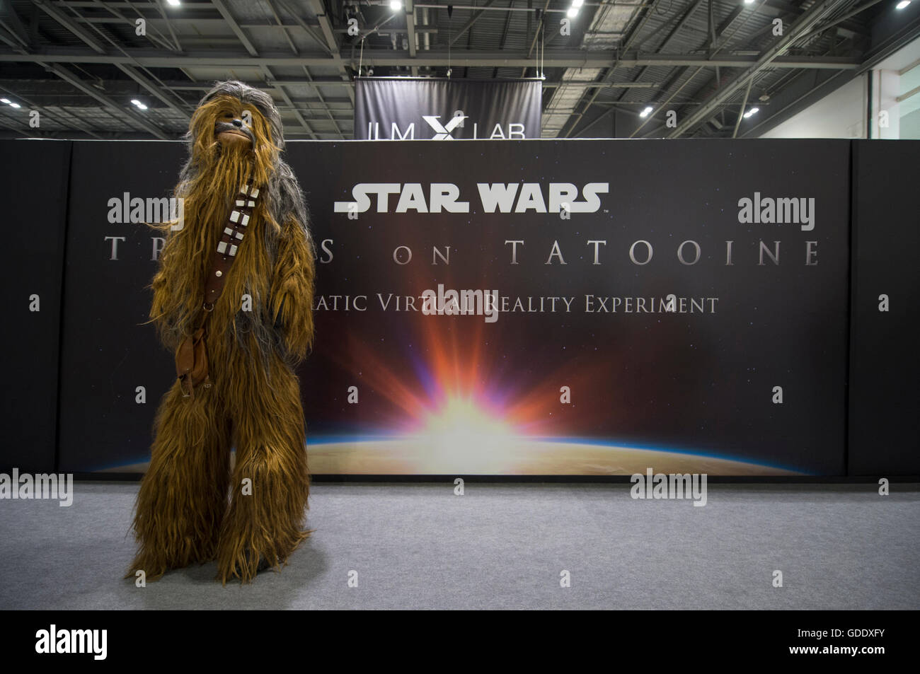 ExCel London, UK. 15th July 2016. Star Wars Celebration Europe 2016 opens at Excel, running from 15-17 July and Stock Photo