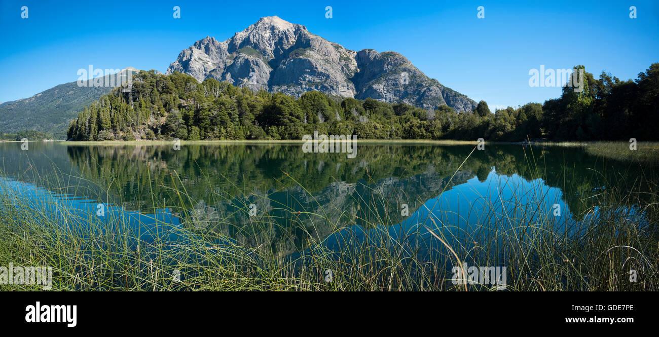 South America,Argentina,Patagonia,Rio Negro,Bariloche,Nahuel Huapi,National Park,Lake District - Stock Image