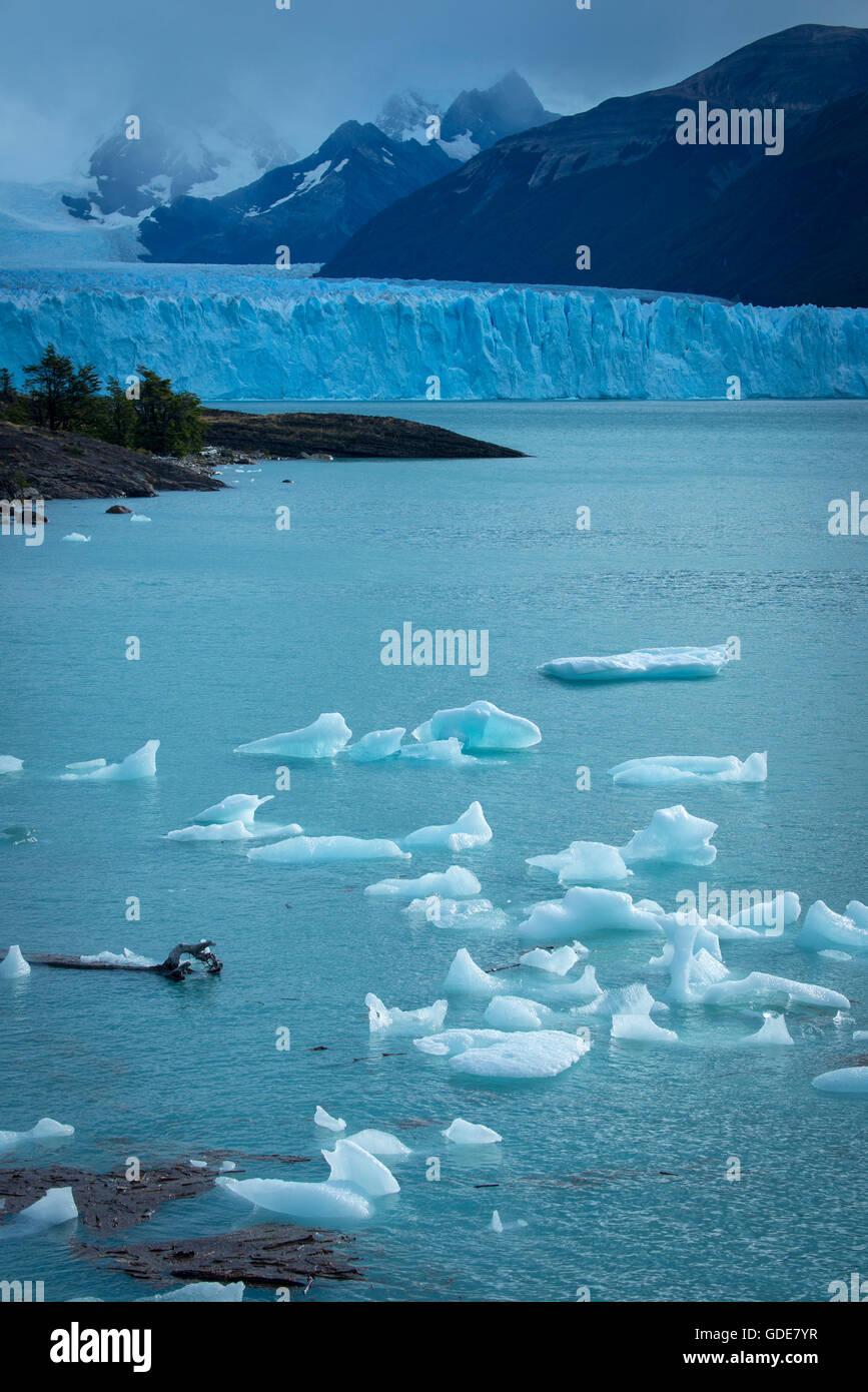 South America,Patagonia,Argentina,Santa Cruz,El Calafate,Los Glaciares,National Park,UNESCO,World Heritage,Andes - Stock Image