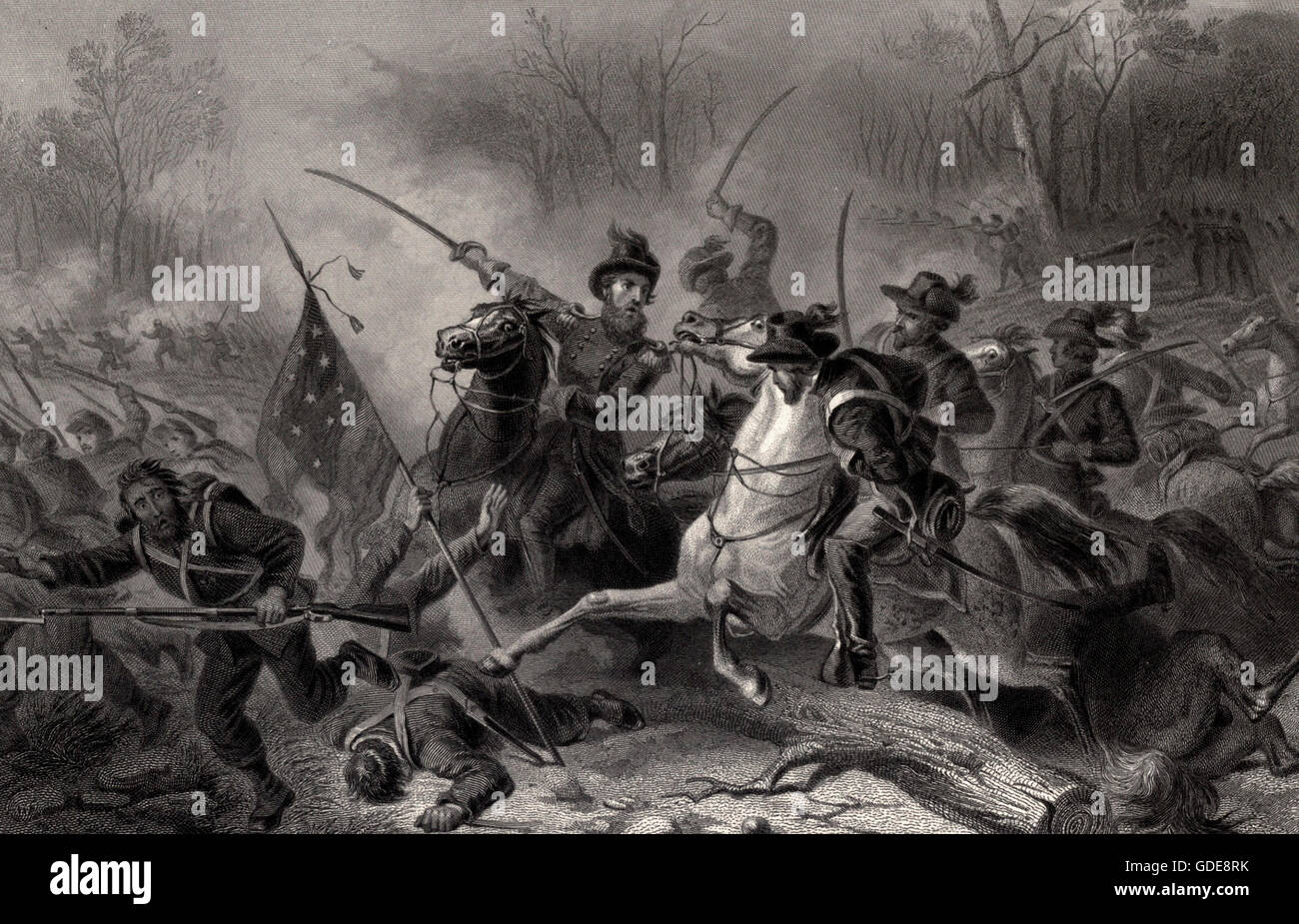 Battle of Shiloh, Tennessee during the USA Civil War - Stock Image
