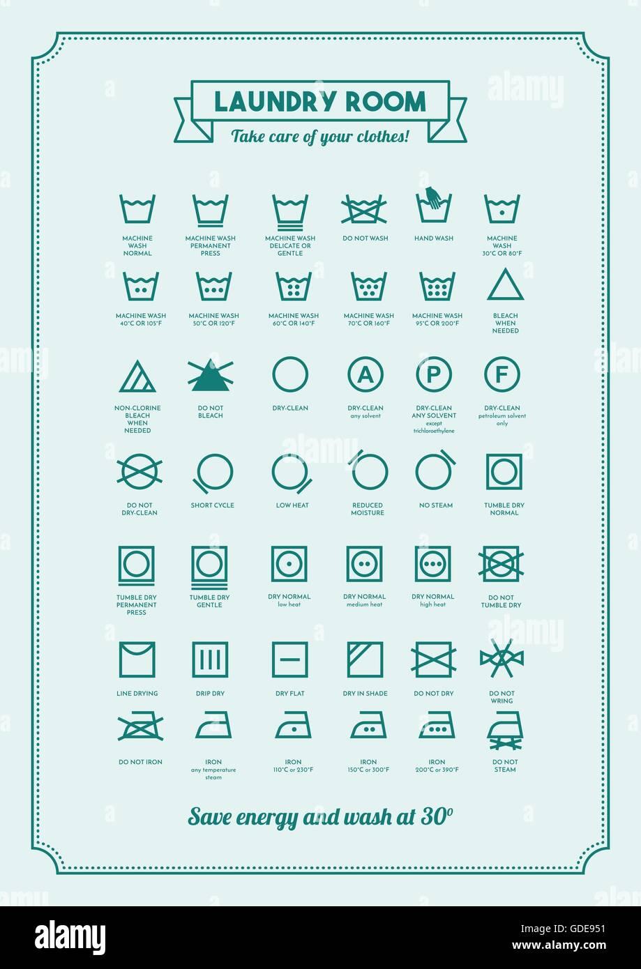 Laundry Symbols Stock Photos Laundry Symbols Stock Images Alamy