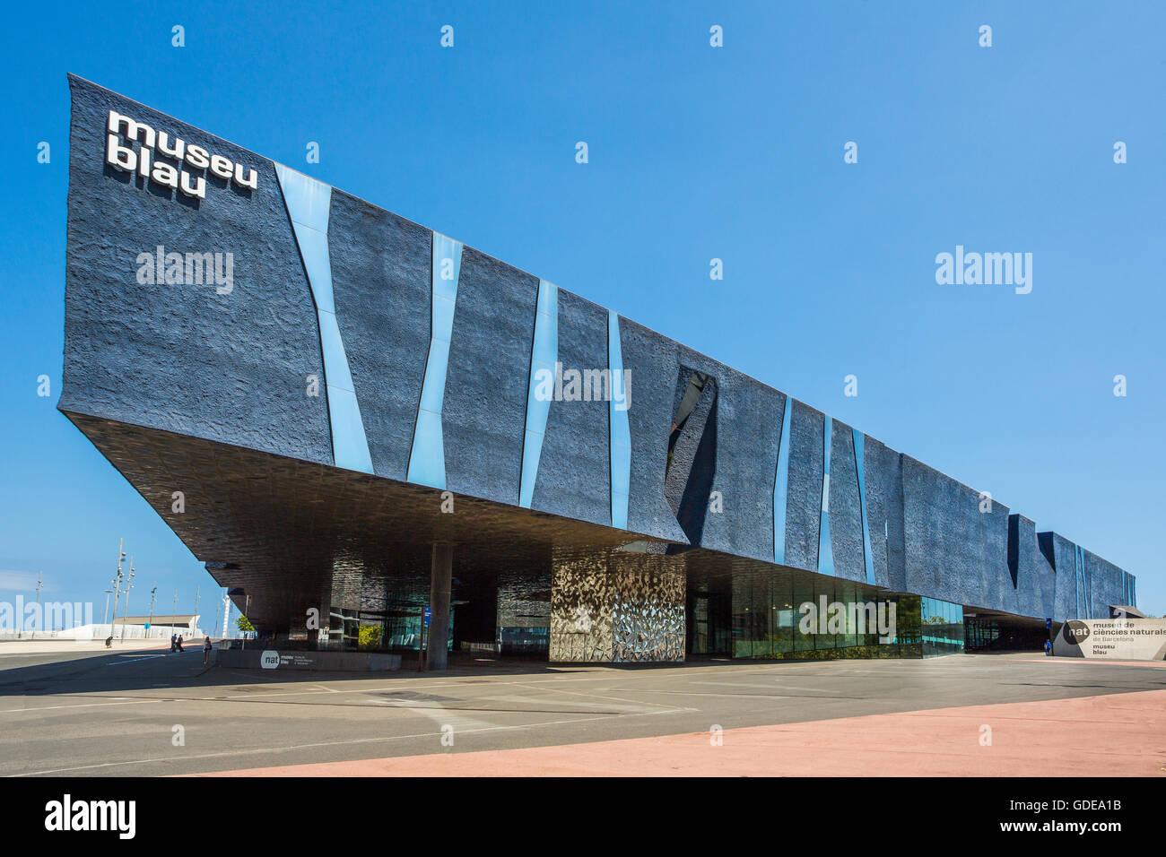 Spain,Catalonia,Barcelona City,Forum Building,Blue Museum - Stock Image