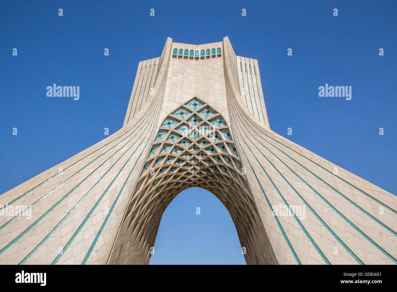 azadi tower in teheran city, iran, - Stock Image