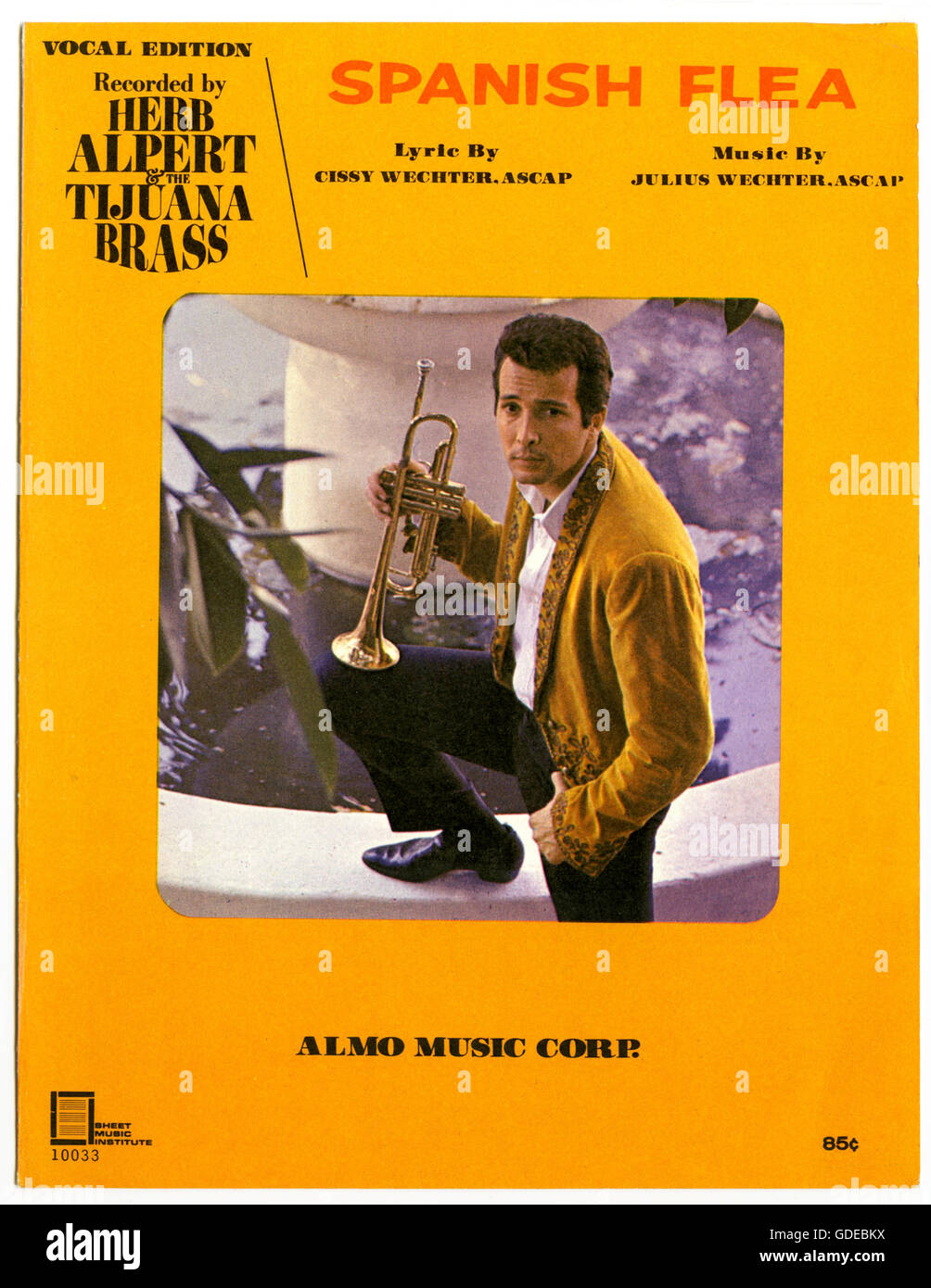 """Piano sheet music cover of the song """"Spanish Flea"""" by Herb Alpert and the Tijuana Brass - Stock Image"""