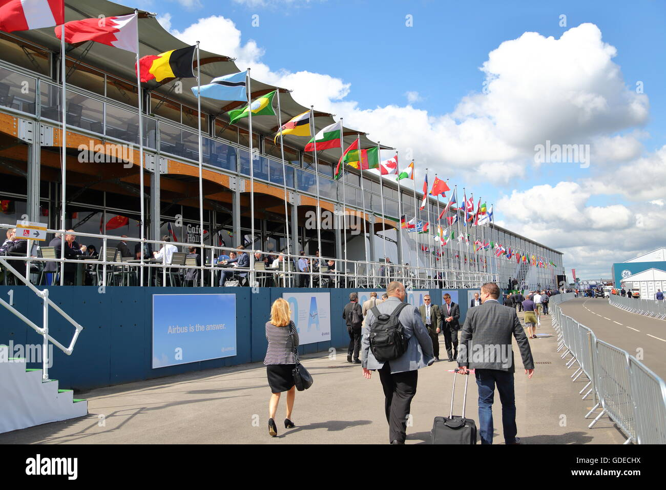 View of Hall 1 at the Farnborough Airshow - Stock Image
