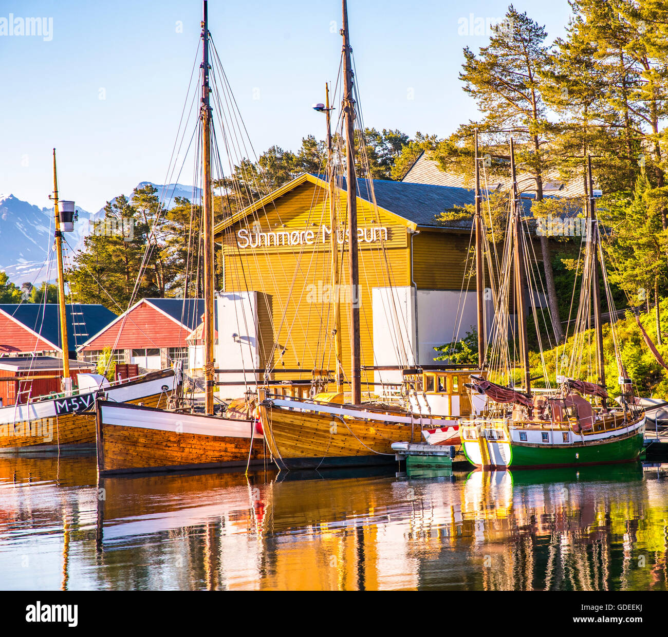 Sunmore Wooden Boat Museum. Alesund, Norway, More Og Romsdal, European - Stock Image