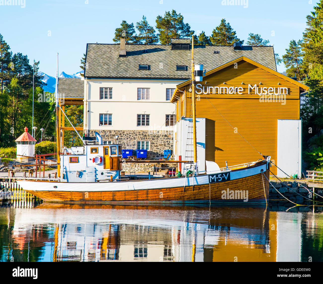 Sunnmore Wooden Boat Museum. Alesund, Norway, More Og Romsdal, European - Stock Image