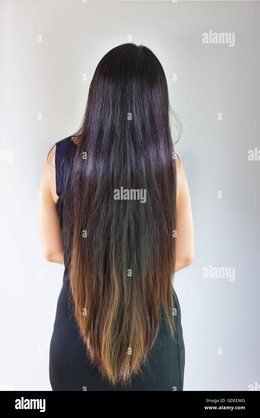 Back Side Or Rare View Of Black And Coloured Damaged Dry Very Long Stock Photo Alamy