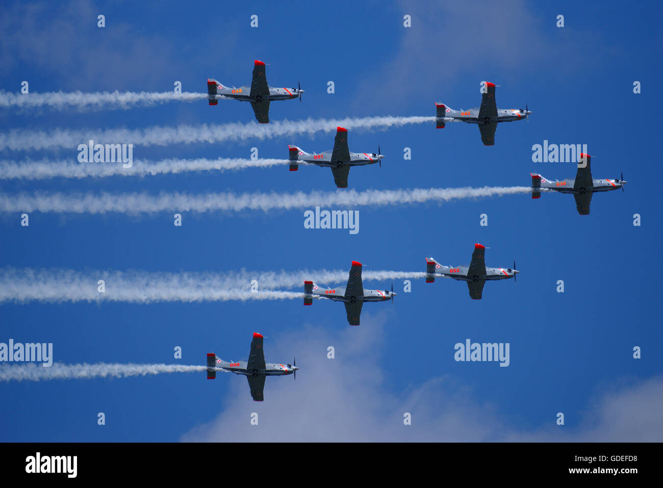Orlik Aerobatic Team of the Polish Air Force at RAF Fairford RIAT - Stock Image