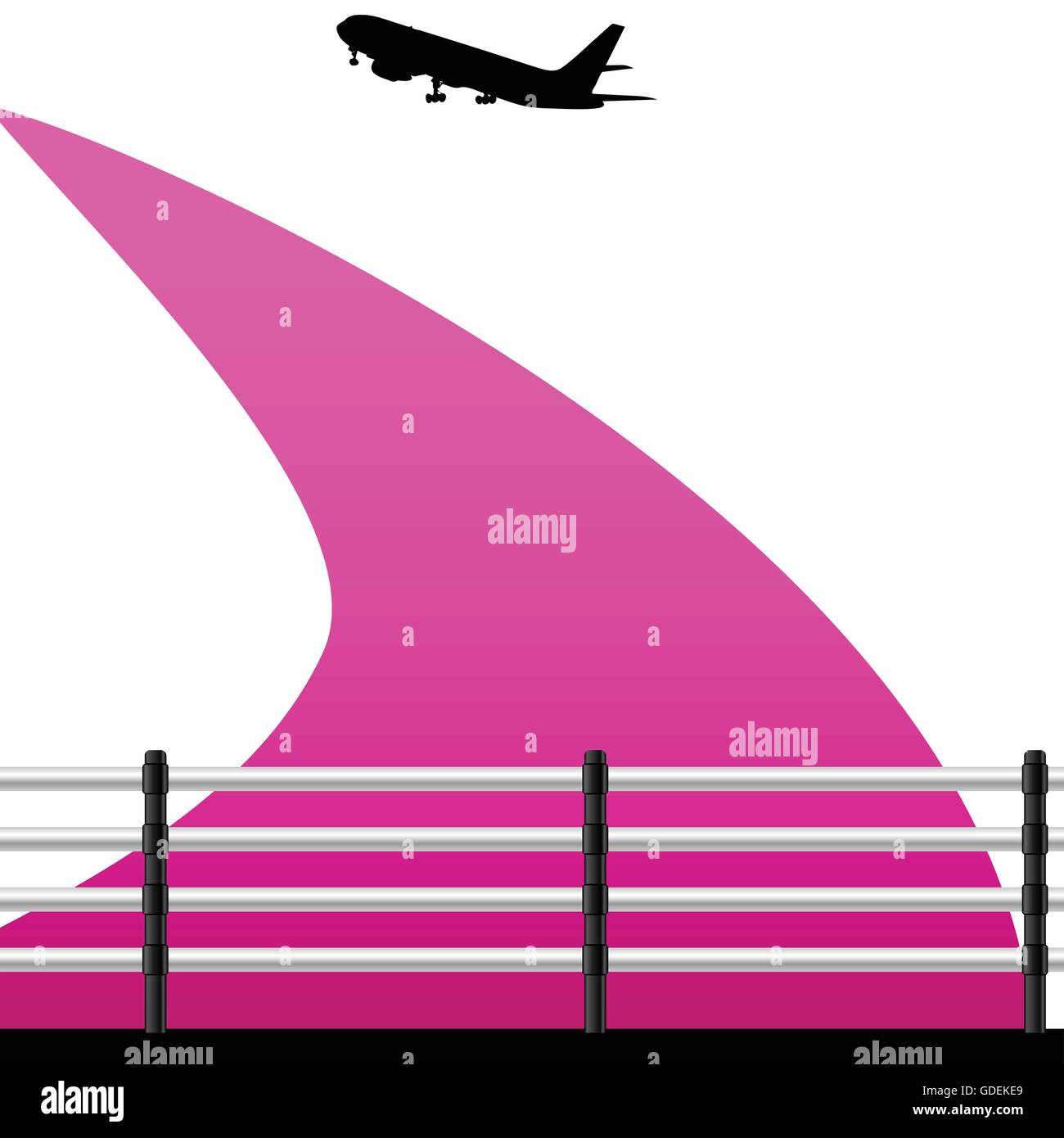 airport with a plane vector illustration on a color - Stock Vector