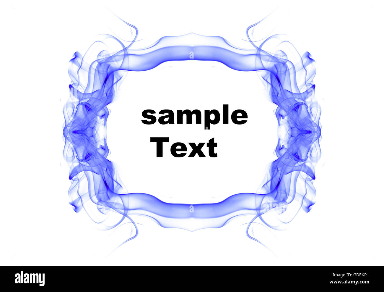 Abstract frame with space for text made of smoke - Stock Image