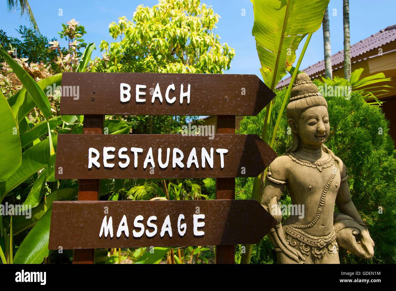 Signs, Ko Samui Island, Thailand - Stock Image