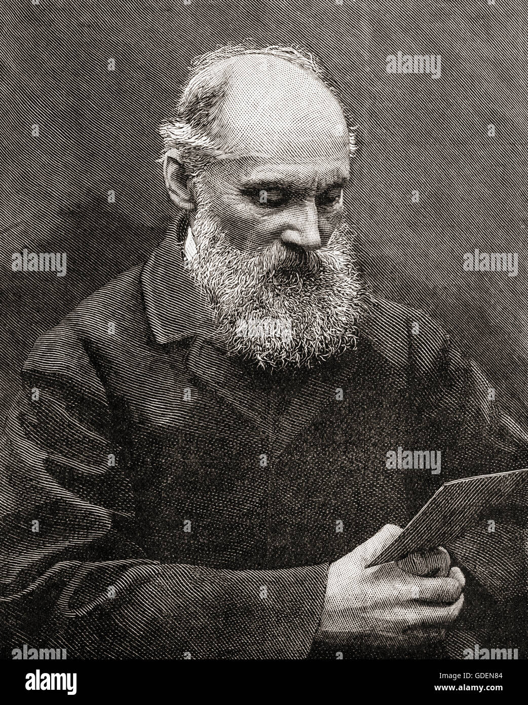 William Thomson, 1st Baron Kelvin, 1824 – 1907.  Belfast born mathematical physicist and engineer. - Stock Image