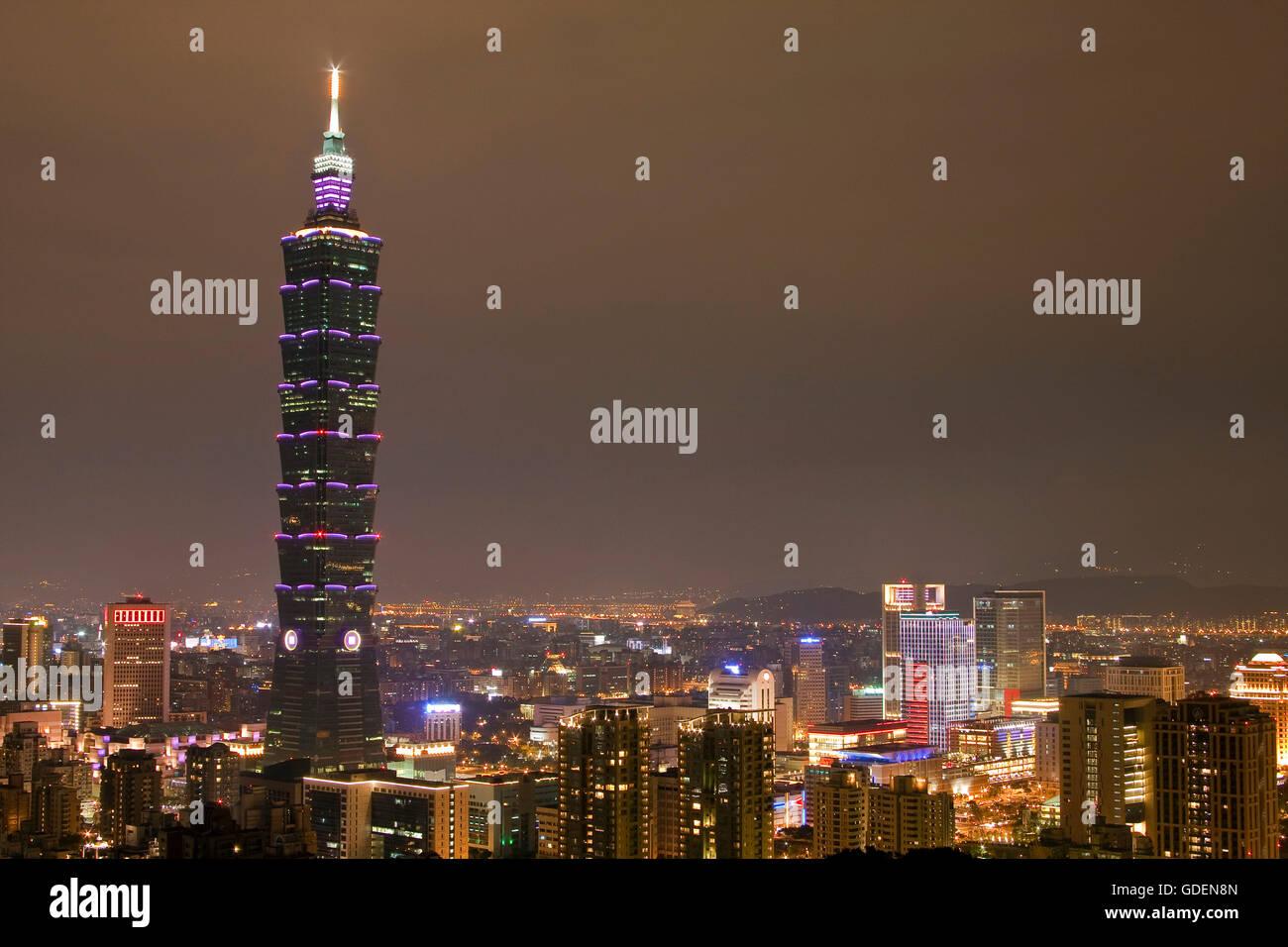 Taipeh Tower 101, Taipeh, Taiwan - Stock Image
