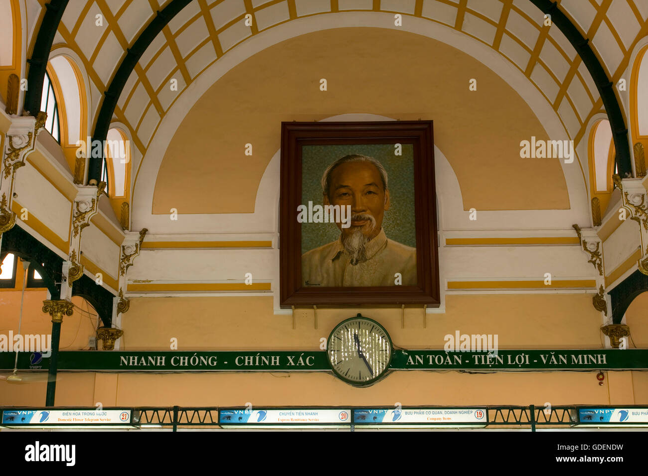 Main postoffice, Ho Chi Minh City, Vietnam / Saigon - Stock Image