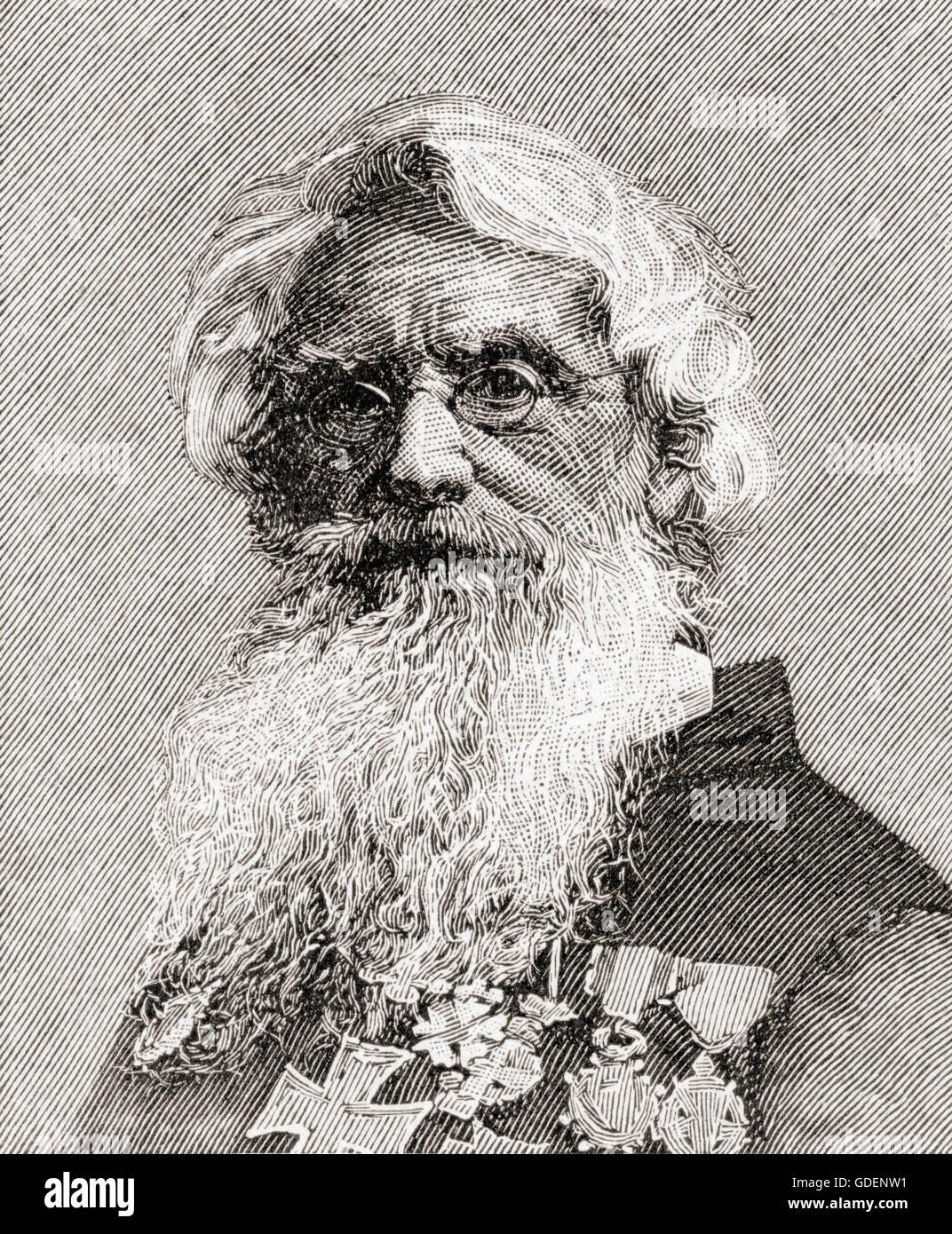 Samuel Finley Breese Morse, 1791 – 1872.  American artist, inventor and co-developer of Morse code. - Stock Image