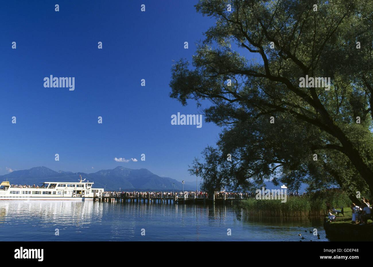 Frauenchiemsee, Lake Chiemsee, Chiemgau, Bavaria, Germany Stock Photo