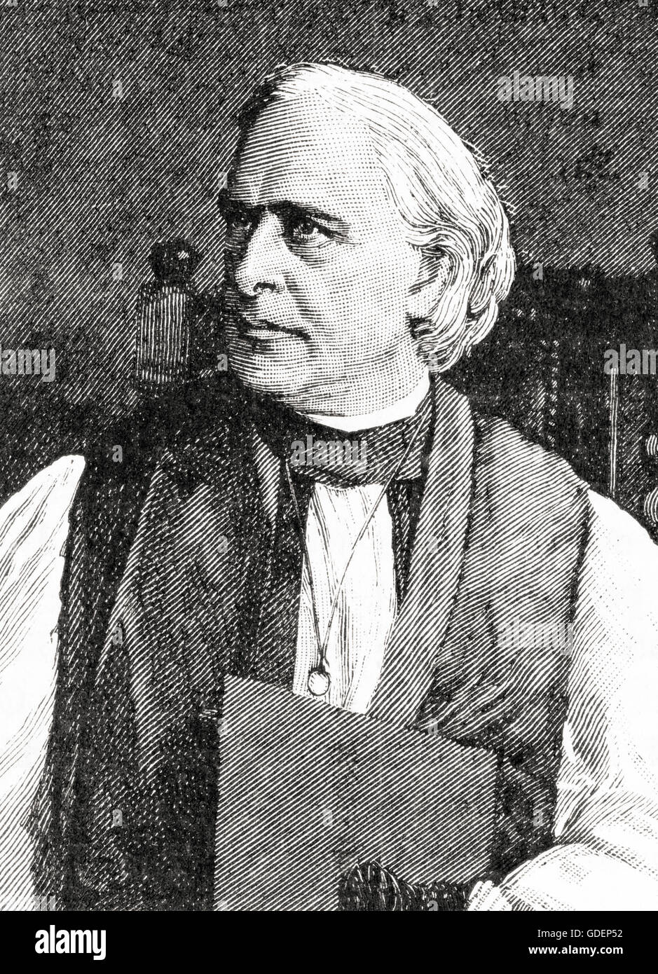 Edward White Benson, 1829 – 1896.  Archbishop of Canterbury. - Stock Image
