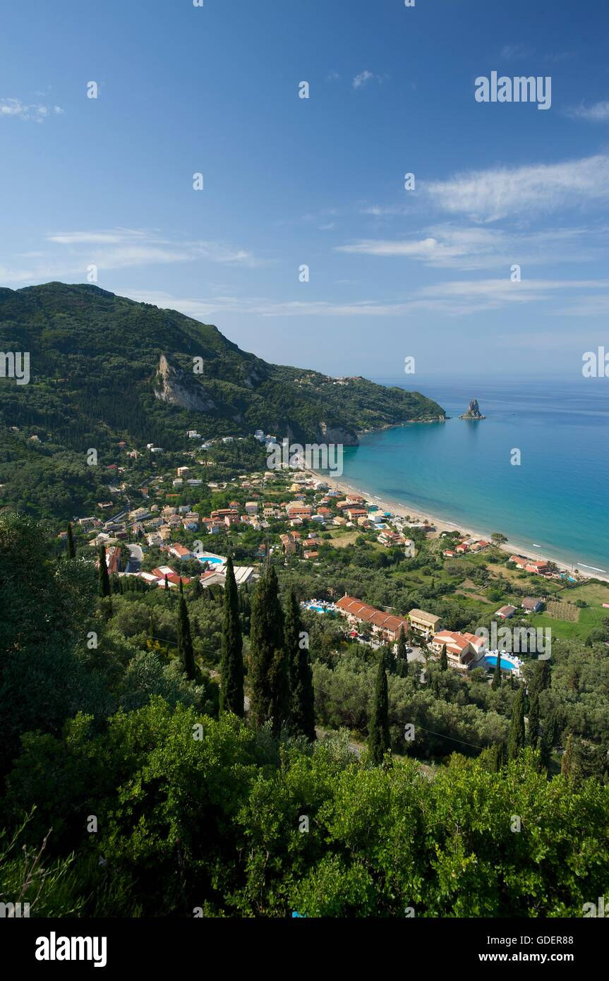 Agios Gordios, Corfu, Ionian Islands, Greece - Stock Image