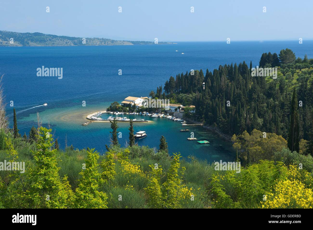 Kouloura, Corfu, Ionian Islands, Greece - Stock Image