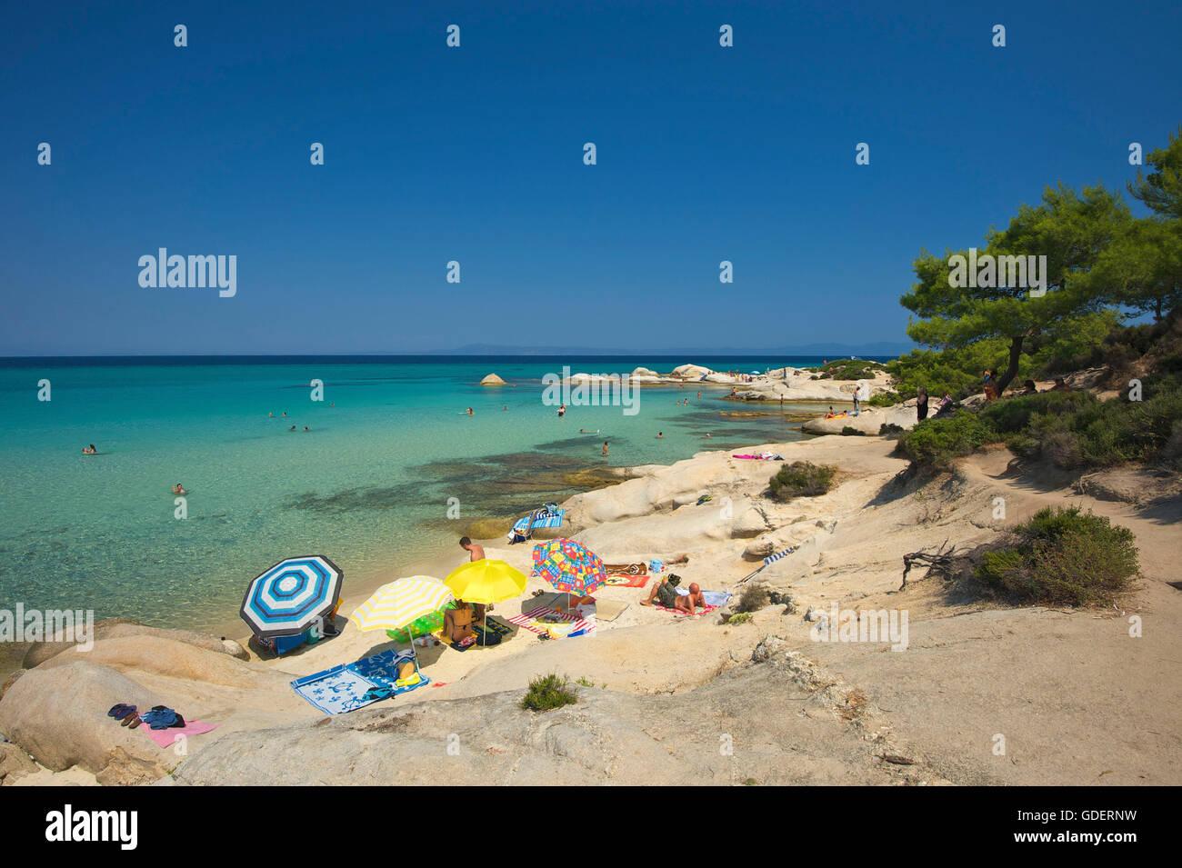 Portokali Beach, Kavourotypes, Sithonia, Chalkidiki, Halkidiki, Greece Stock Photo