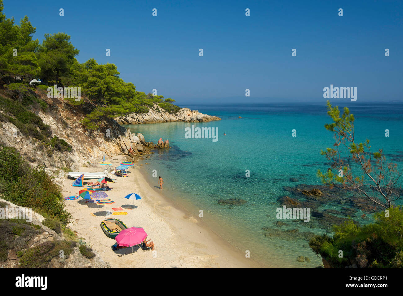 Kavourotypes Beach, Sithonia, Chalkidiki, Halkidiki, Greece Stock Photo