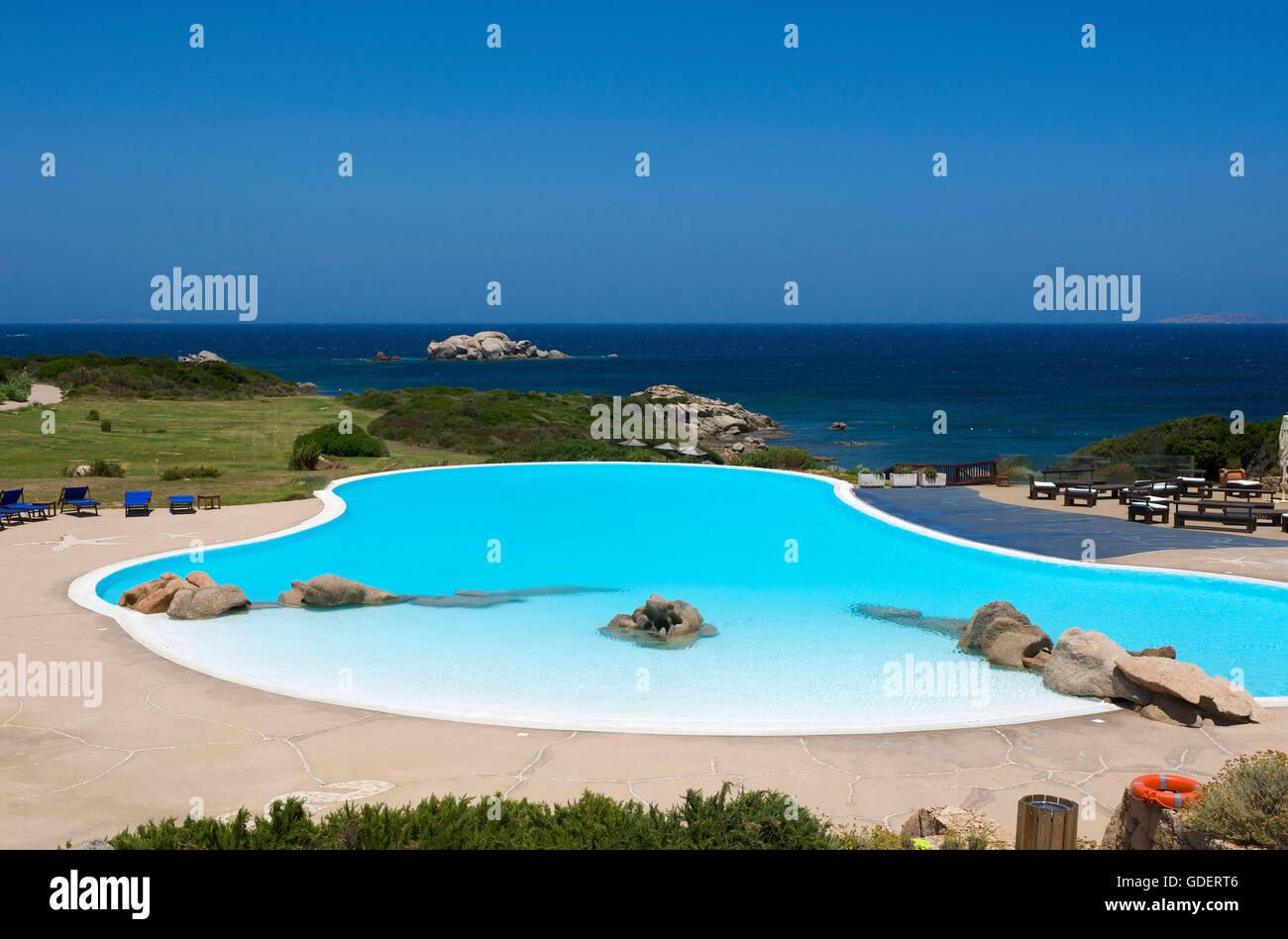 Valle dell Erica Hotel nearSanta Teresa Gallura, Sardinia, Italy - Stock Image
