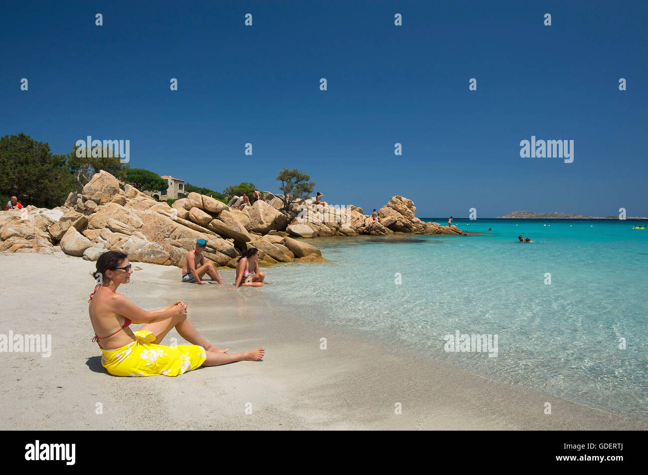 Capriccioli  Beach, Costa Smeralda, Sardinia, Italy Stock Photo
