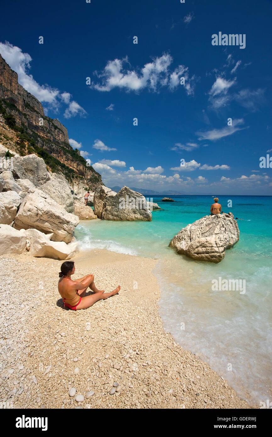 Cala Goloritze, Golfo di Orosei, Parco Nazionale del Gennargentu e Golfo di Goloritze, Sardinia, Italy - Stock Image