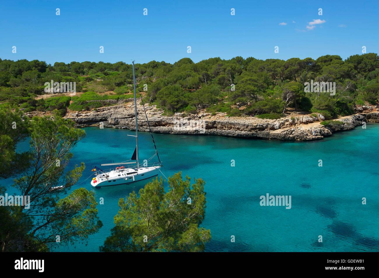 Cala Sa Nau, Majorca, Balearics, Spain - Stock Image