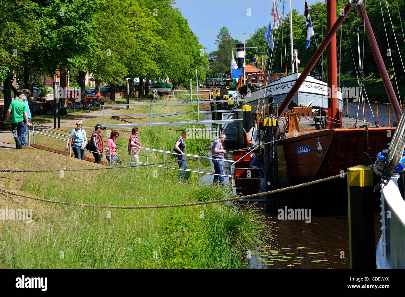 Open Air ship navigation museum, Haren, Lower Saxony, Germany - Stock Image