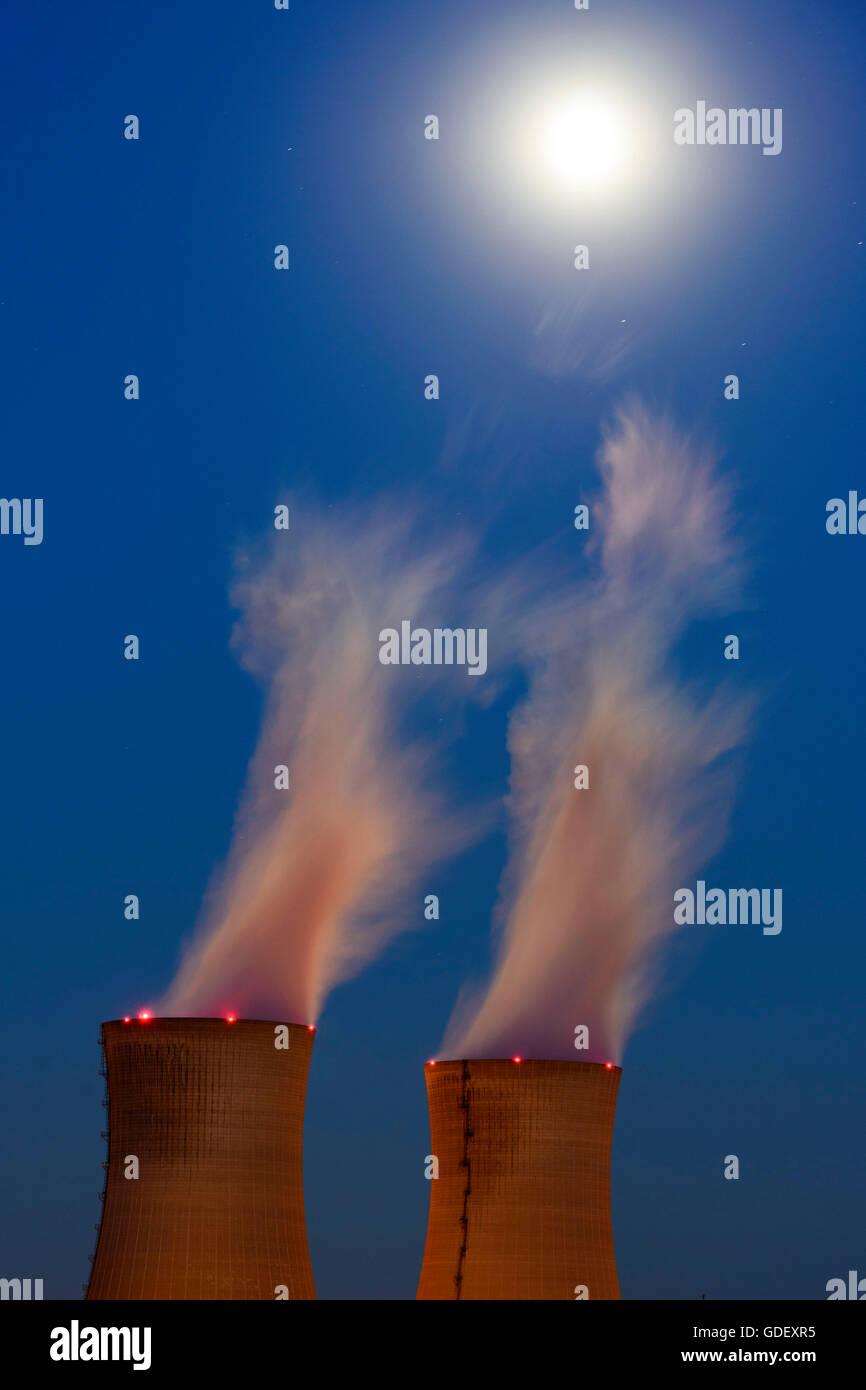 Atomic power plant Grafenrheinfeld, Bavaria, Germany, Schweinfurt - Stock Image