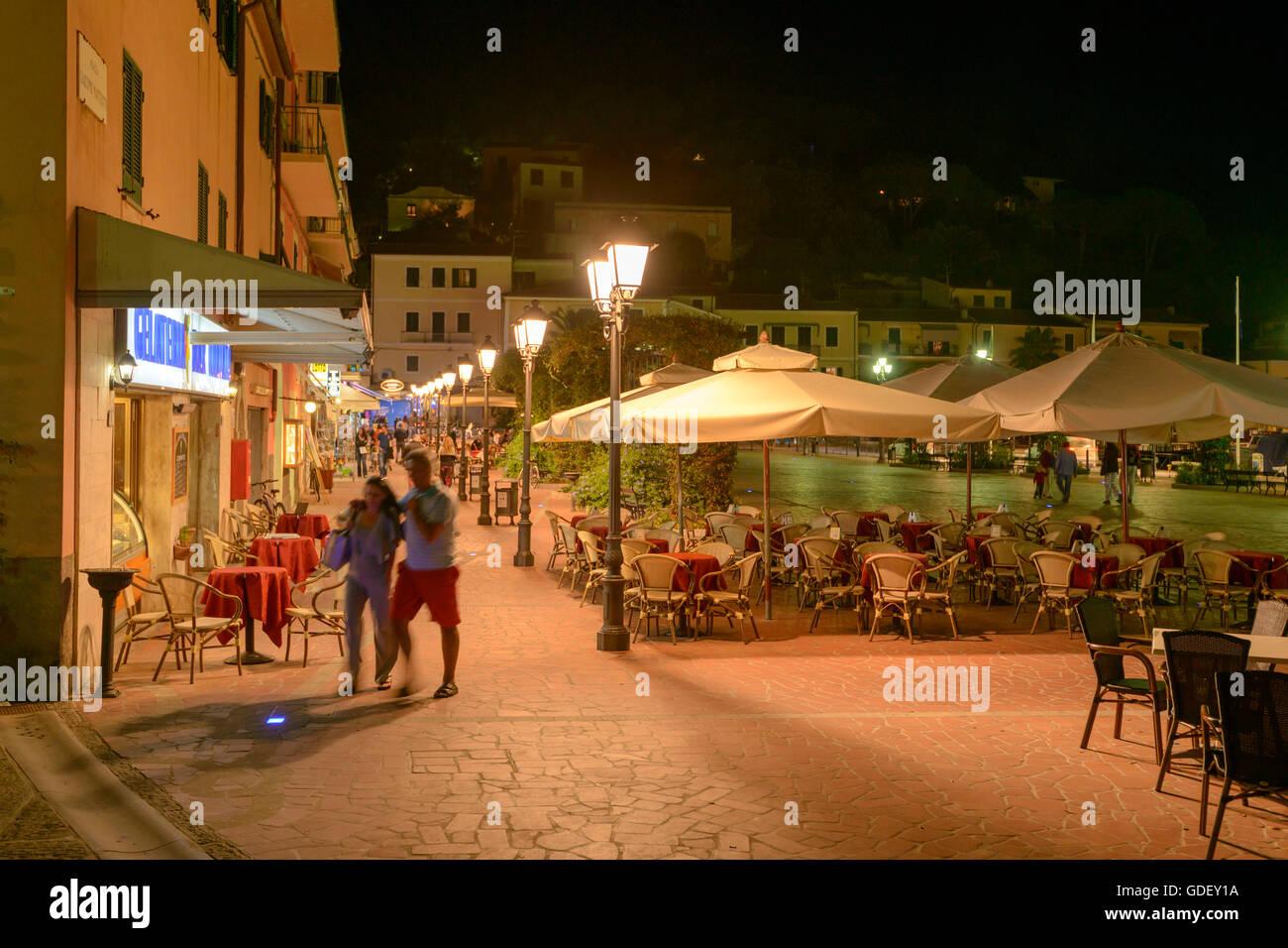 Europe, Italy, Tuscany, Island Elba, Porto Azzurro, Old Town - Stock Image