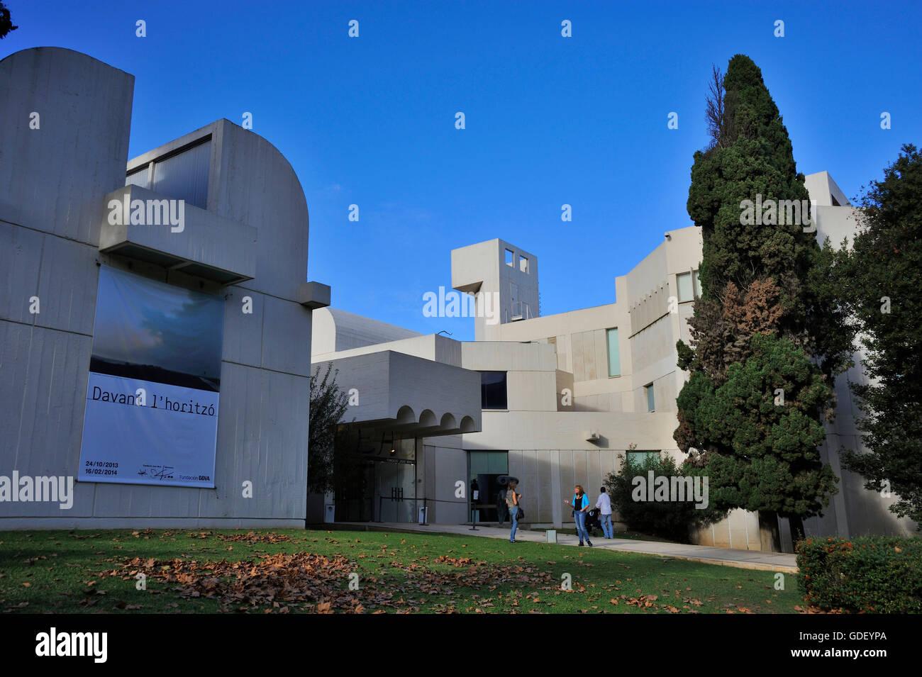 Fundacio Joan Miro, Barcelona, Catalonia, Spain Stock Photo