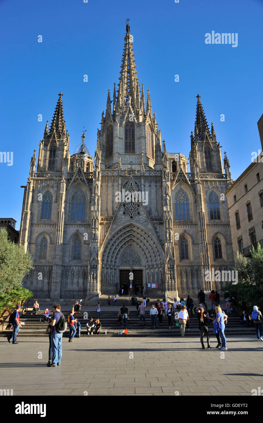 Cathedral, Barcelona, Catalonia, Spain Stock Photo