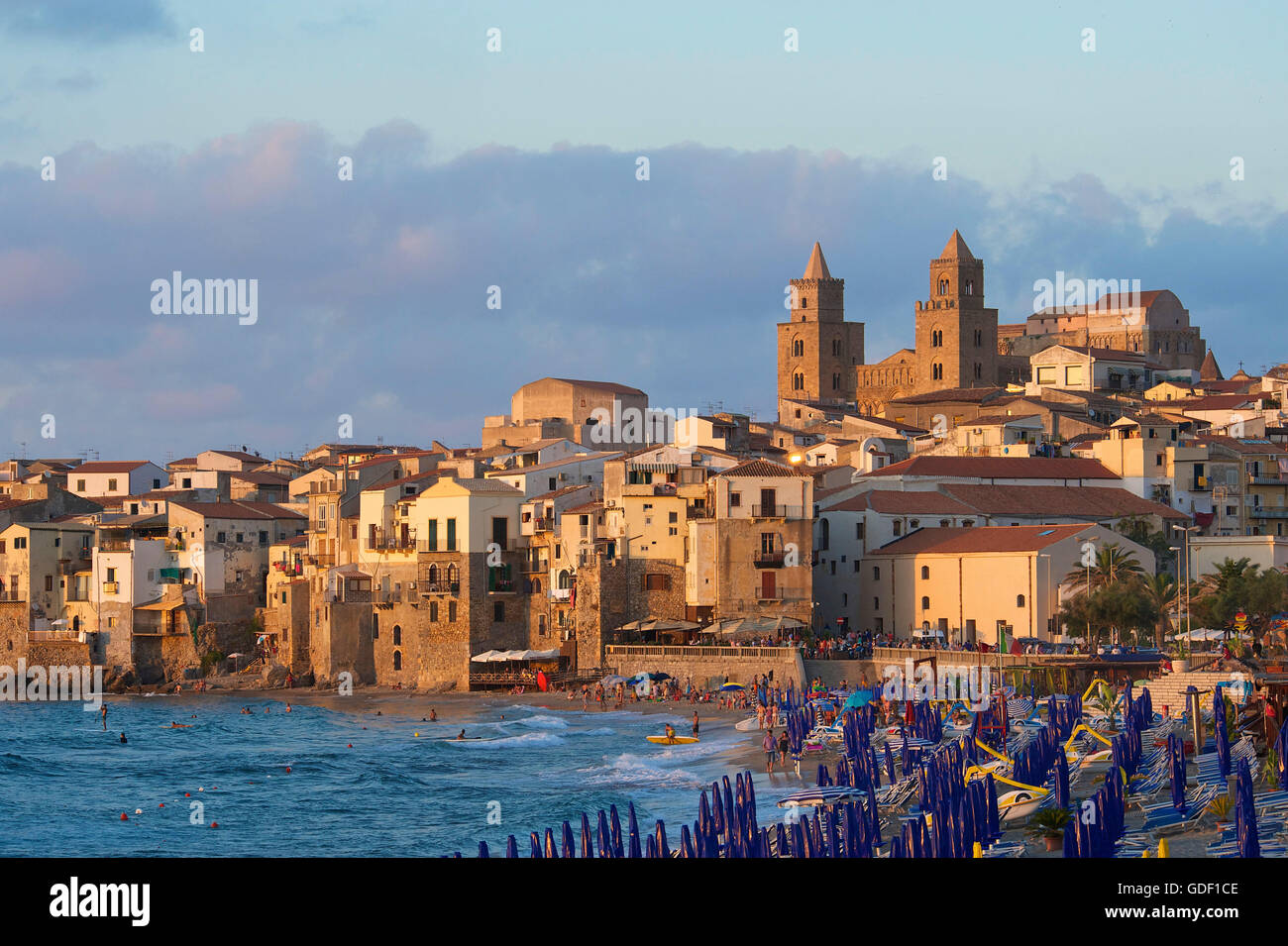 Cathedral San Salvatore, Cefalu, Sicily, Italy - Stock Image