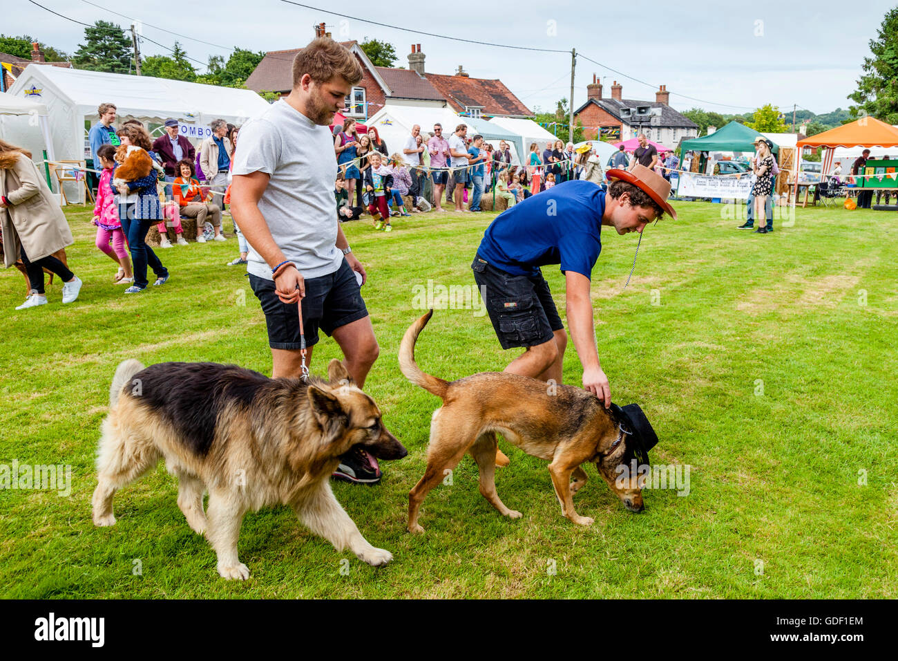 Local People and Their Pets Take Part In A Traditional Dog Show At The Fairwarp Village Fete, Fairwarp, East Sussex, - Stock Image