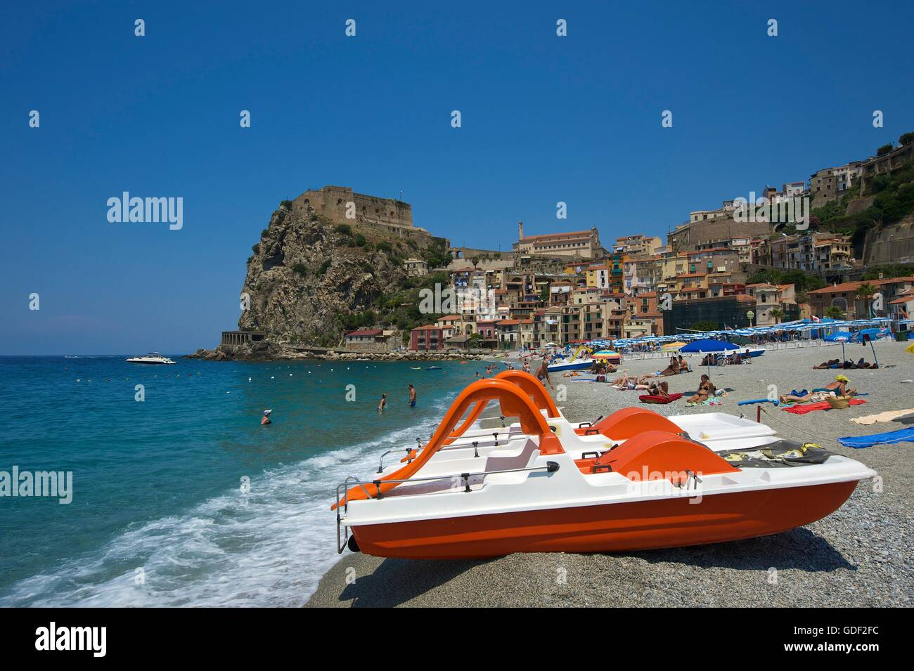 Scilla, Costa Viola, Calabria, Italy - Stock Image
