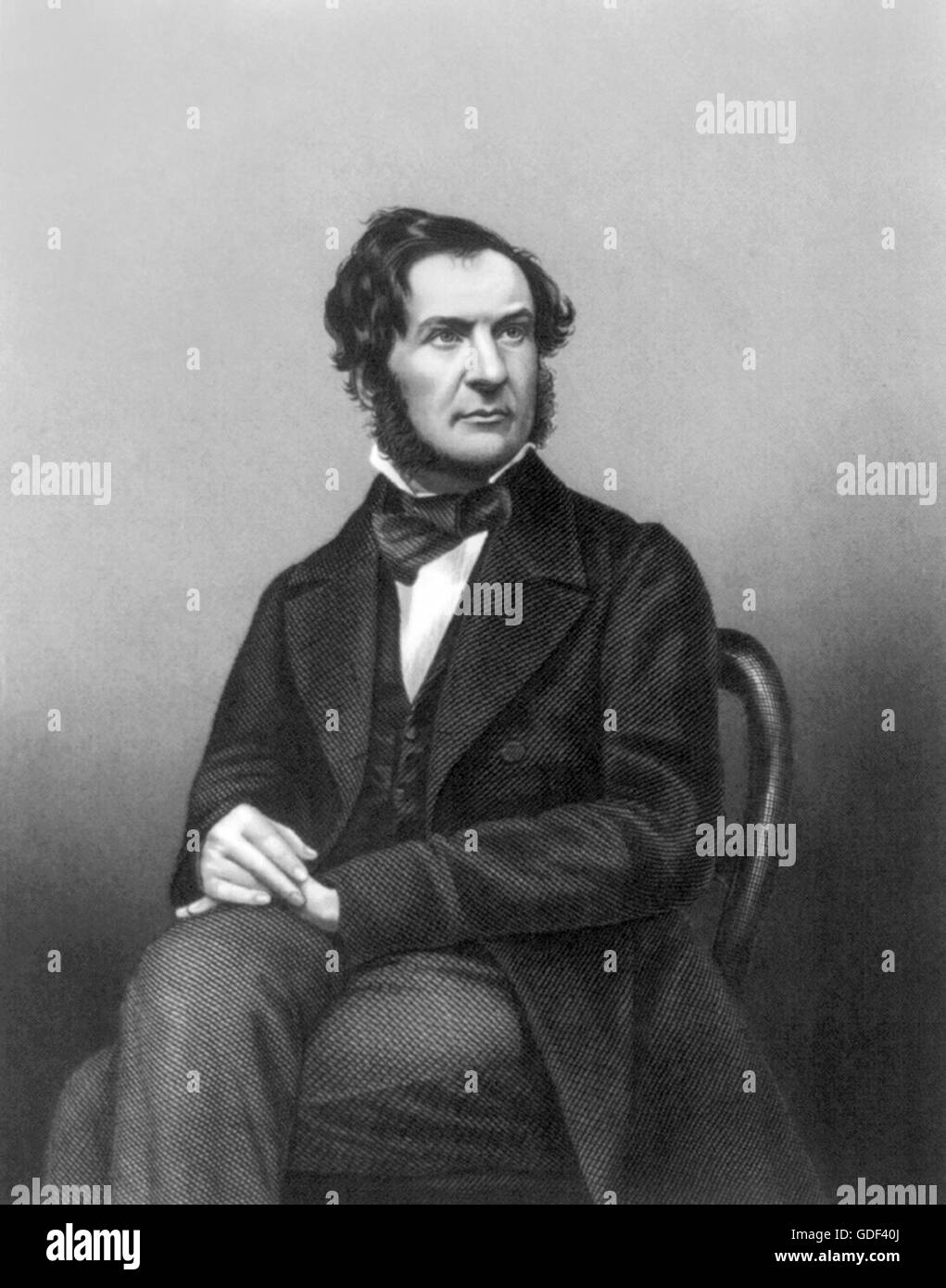 William Gladstone (1809-1898) Undated engraving. - Stock Image