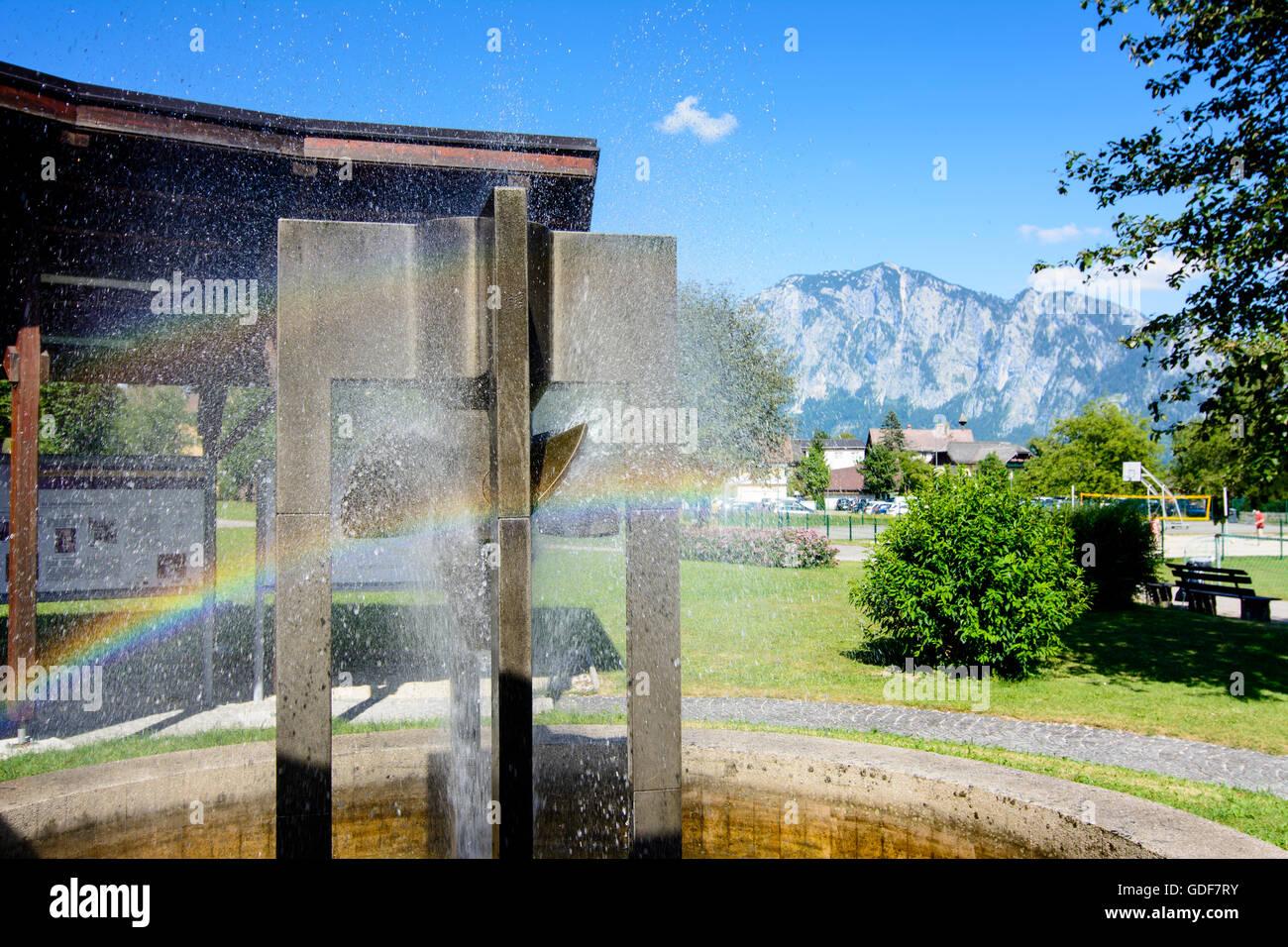 Unterach am Attersee: Monument to Victor Kaplan, Austria, Oberösterreich, Upper Austria, Salzkammergut - Stock Image