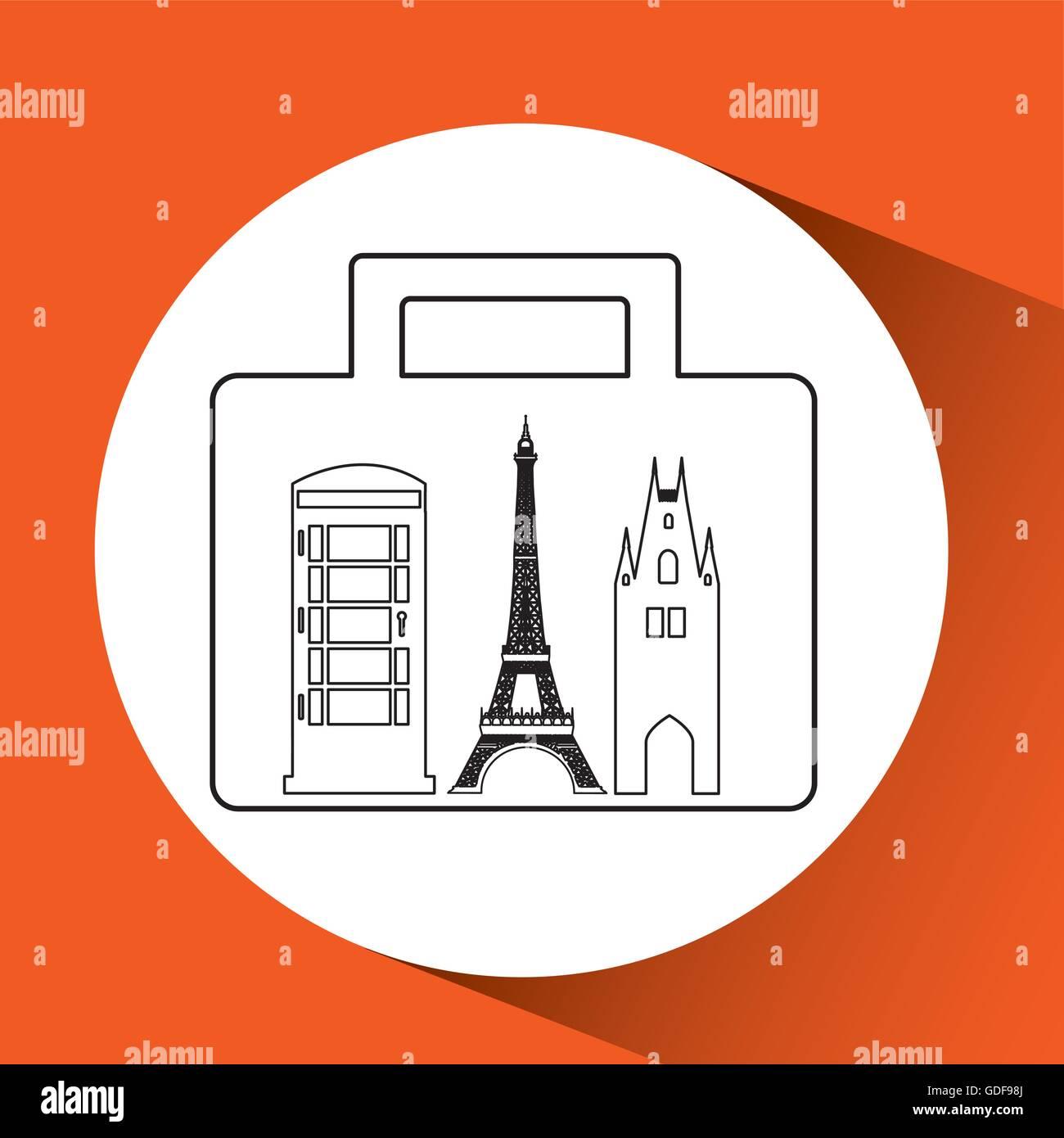 people travel destination - Stock Vector